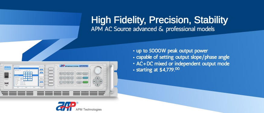 APM AC Source advanced & professional models