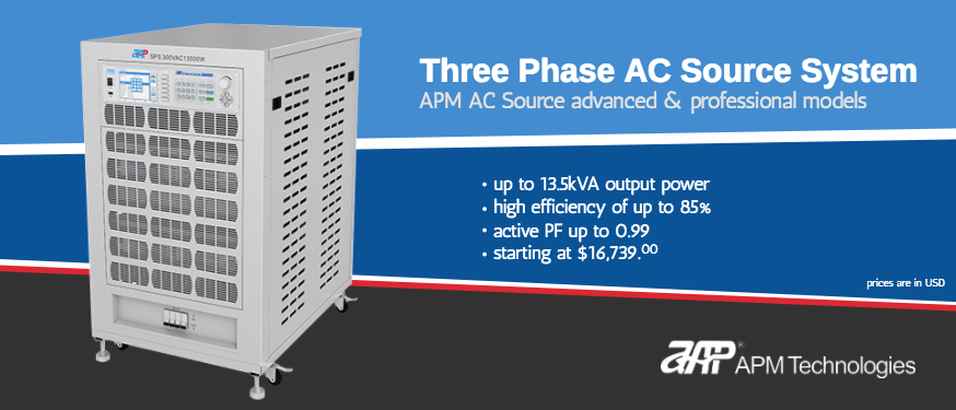 APM Three Phase AC Source