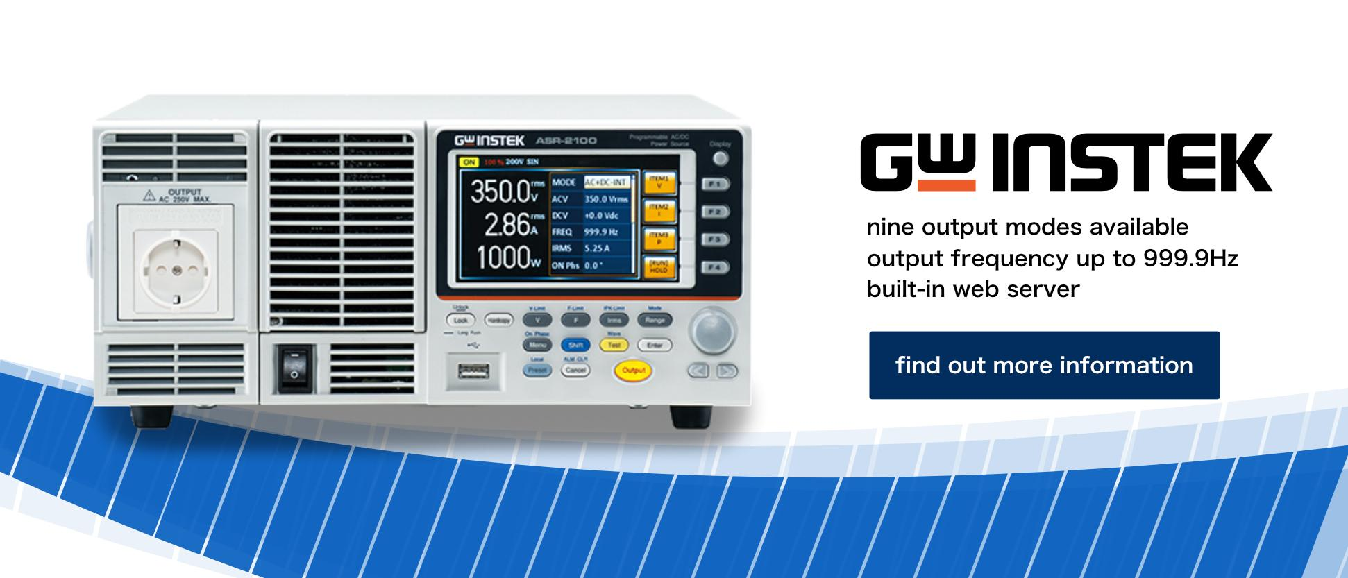 GW Instek ASR-2100 Series Product Introduction